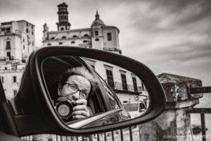self portrait of Bruno D'Alimonte in Amalfi coast